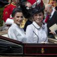 La reine Letizia d'Espagne, Catherine (Kate) Middleton, duchesse de Cambridge, lors de la cérémonie annuelle de l'Ordre de la Jarretière (Garter Service) au château de Windsor. 17/06/2019 - Windsor