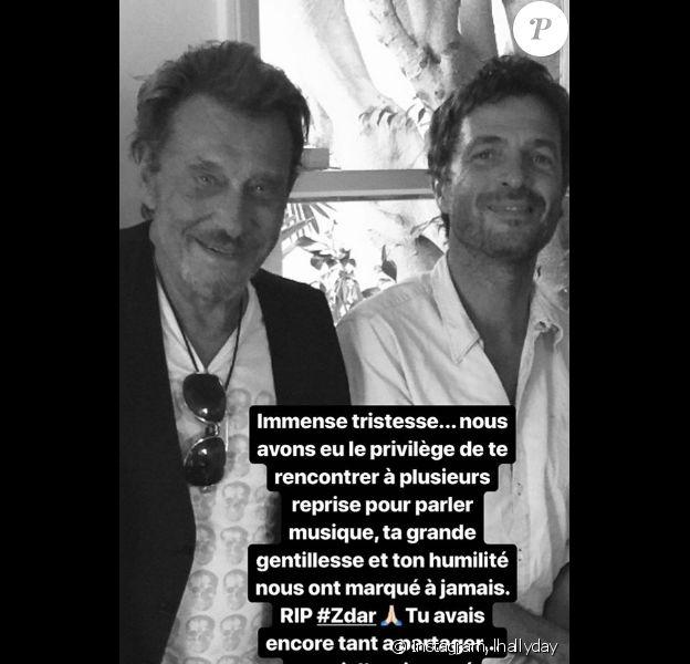 "Laeticia Hallyday rend hommage à Philippe Cerboneschi, dit ""Zdar"", le 20 juin 2019."