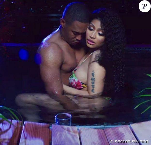 Nicki Minaj et son chéri Kenneth Perry dans le clip Megatron publié en juin 2019.