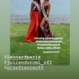 Vaimalama Chaves et Matahari Bouquet après l'élection de Miss Tahiti 2019 le 21 juin 2019.