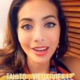Vaimalama Chaves après l'élection de Miss Tahiti 2019 le 21 juin 2019.