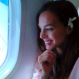 Marine Lorphelin dans son avion pour Tahiti, le 22 juin 2019.