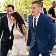 Zoe Kravitz et son mari Karl Glusman - Les invités de Zoe Kravitz et de son mari Karl Glusman arrivent au restaurant Lapérouse à Paris pour leur Pre Wedding Party le 28 juin 2019.