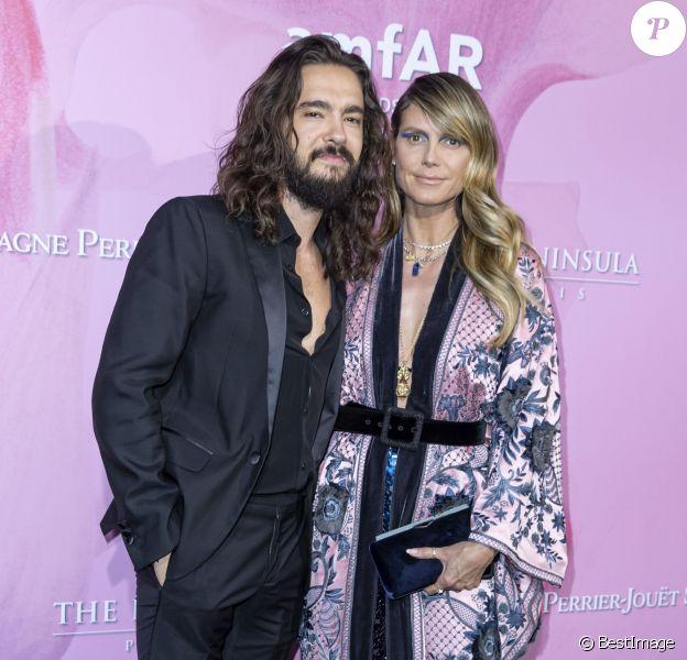Heidi Klum et son fiancé Tom Kaulitz assistent à la soirée amfAr à l'hôtel Peninsula à Paris, le 30 juin 2019. © Olivier Borde/Bestimage