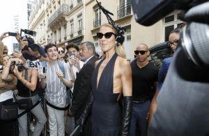 Céline Dion : En décolleté après un défilé avec Pepe Munoz et Iris Mittenaere