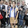 Iris Mittenaere (Miss France et Univers 2016) arrive au Pavillon Cambon pour assister au défilé Schiaparelli haute couture Automne-Hiver 2019/2020 à Paris le 1er juillet 2019. © Veeren Ramsamy-Christophe Clovis/Bestimage