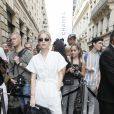 Caroline Daur arrive au Pavillon Cambon pour assister au défilé Schiaparelli haute couture Automne-Hiver 2019/2020 à Paris le 1er juillet 2019. © Veeren Ramsamy-Christophe Clovis/Bestimage