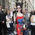Miss Fame arrive au Pavillon Cambon pour assister au défilé Schiaparelli haute couture Automne-Hiver 2019/2020 à Paris le 1er juillet 2019. © Veeren Ramsamy-Christophe Clovis/Bestimage