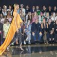 Anna Wintour, Diego Della Valle, Céline Dion, Pepe Munoz, Isabelle Huppert assistent au défilé Schiaparelli haute couture Automne-Hiver 2019/2020 à Paris le 1er juillet 2019. © Olivier Borde/Bestimage