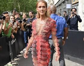 Céline Dion arrive au défilé Iris van Herpen haute couture Automne-Hiver 2019/2020 à Paris, France, le 1er Juillet 2019.