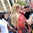 Celine Dion arrive à l'hôtel de Crillon à Paris le 1er juillet 2019.