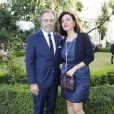 Luc Chatel et son épouse Mahnaz Hatami - Dîner de gala du comité français pour la sauvegarde de Venise à l'hôtel de Galliffet, siège de l'Institut Culturel Italien, Paris le 4 juillet 2019. © Marc Ausset-Lacroix/Bestimage