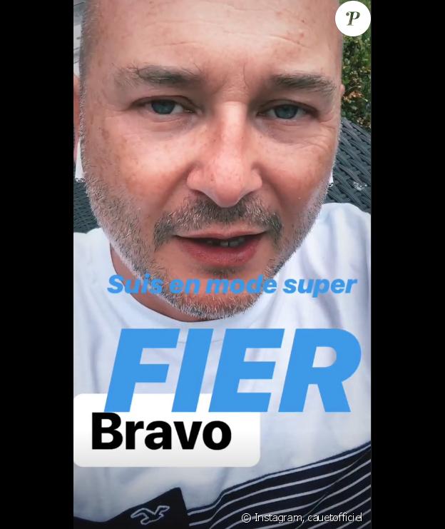 Sébastien Cauet félicite son fils sur Instagram.