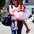 Kristin Davis est allée chercher sa fille Gemma à son cours de danse classique à Brentwood. Le 16 août 2014