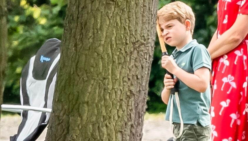 Le prince George de Cambridge lors d'un match de polo de bienfaisance King Power Royal Charity Polo Day à Wokinghan, comté de Berkshire, Royaume Uni, le 10 juillet 2019.