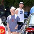 Exclusif - Hayden Panettiere avec son compagnon Brian Hickerson dans une station essence à Los Angeles. Le 16 mai 2019