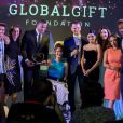 """Sarah Almagro (Global Gift Heroes Award), Eva Longoria (présidente d'honneur de la fondation Global Gift), Maria Bravo (co-fondatrice de la Fondation Global Gift) et Gary Dourdan lors de la cérémonie de la 8ème édition du dîner caritatif organisé par la """"Fondation Global Gift"""" à Marbella, le 12 juillet 2019."""