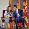 Letizia d'Espagne et Felipe d'Espagne lors de l'inauguration de la fondation du Prince de Gérone en Espagne le 26 juin 2009