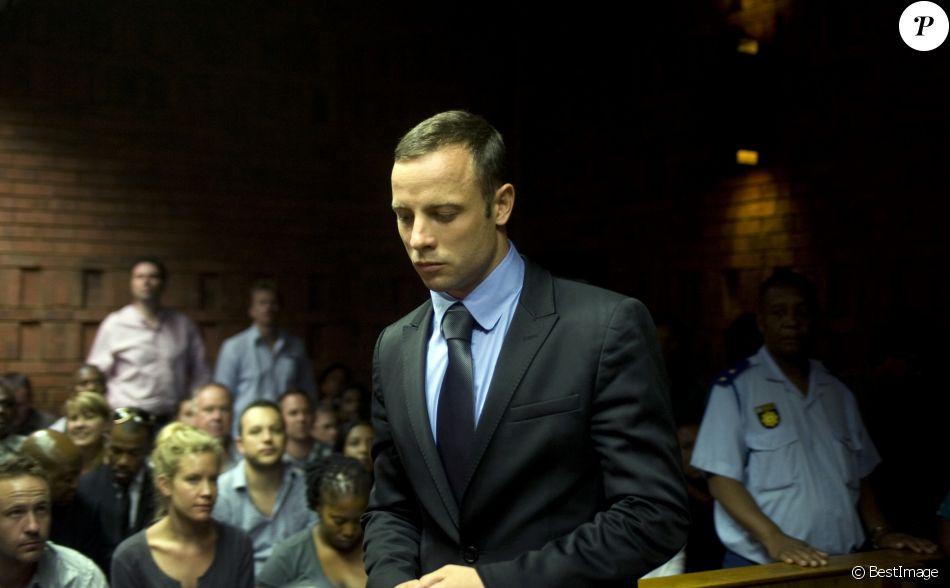 Oscar Pistorius au troisième jour de son procès à Pretoria en Afrique du sud le 21 février 2013.