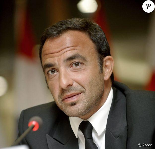Nikos Aliagas à Bruxelles pour le lancement de l'Action Européenne sur la Drogue le 26 juin 2009