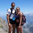 """Elodie de """"Mariés au premier regard"""" avec son chéri au Mont Valier, le 14 juillet 2019"""