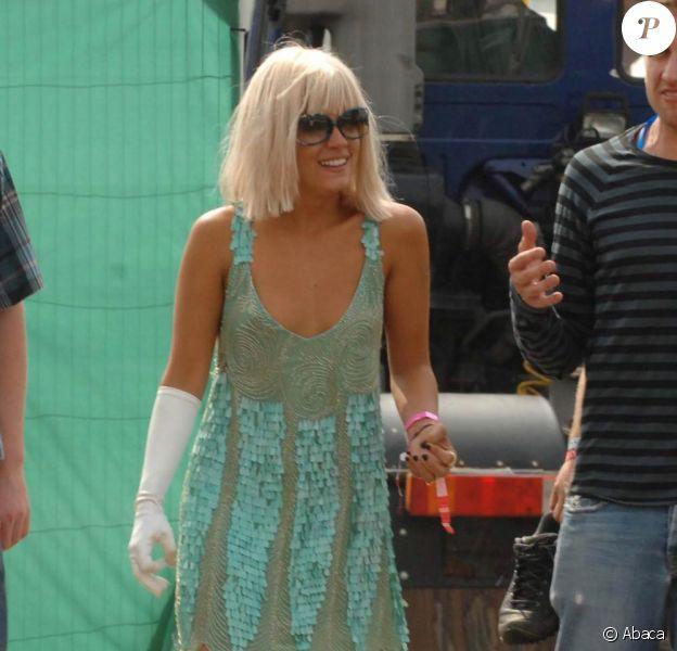 Lily Allen au festival de Glastonbury. 26/06/09