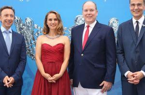 Natalie Portman : Divine en robe bustier avec Albert de Monaco
