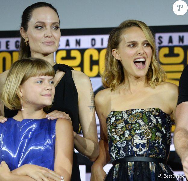 """Angelina Jolie, Lia McHugh, Natalie Portman, Richard Madden - """"Marvel Studios"""" - 3ème jour - Comic-Con International 2019 au """"San Diego Convention Center"""" à San Diego, le 20 juillet 2019."""