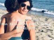 """Faustine Bollaert : Moment câlin mère-fils à la plage avec son """"petit homme"""""""