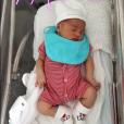 Mélanie Da Cruz et son fils Swan, peu après sa naissance le 25 juillet 2018.