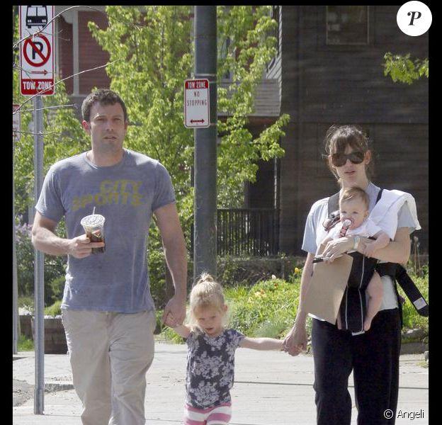 Jennifer Garner et Ben Affleck et leurs filles Violet et Seraphina
