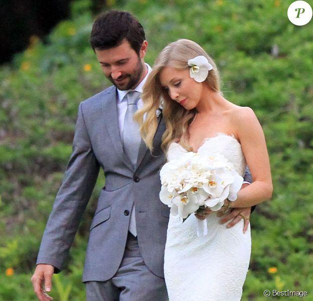 Brandon Jenner et Leah Felder le jour de leur mariage à Hawaï le 31 mai 2012