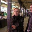 Lara Fabian et son mari Gabriel à Montréal, suivi au marché par les caméras de 50' Inside, juillet 2019.