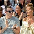 Celine Dion, Pepe Munoz - Front row du Défilé de mode Haute-Couture Automne/Hiver 2019/2020 Alexandre Vauthier à Paris. Le 2 juillet 2019. © Veeren Ramsamy / Christophe Clovis / Bestimage