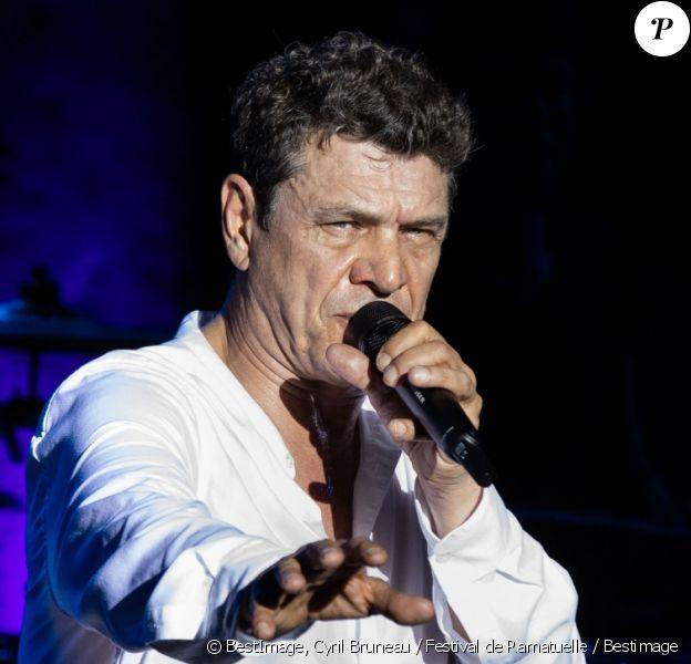Exclusif - Marc Lavoine - Concert de Marc Lavoine pour l'ouverture du Festival de Ramatuelle, le 1er août 2019