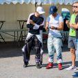 Le prince Carl Philip de Suède lors de l'Open de karting de Lidköping le 3 août 2019.