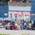 Le prince Carl Philip de Suède a disputé une course lors de l'Open de karting de Lidköping le 3 août 2019.