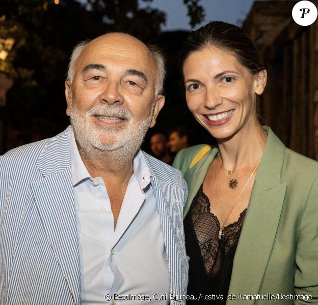 Exclusif - Gérard Jugnot et sa compagne Patricia Campi lors du Festival de Ramatuelle, France, le 5 août 2019.