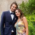Camille Lacourt prend la pose avec sa chérie Alice Detollenaere sur Instagram, le 6 août 2019.