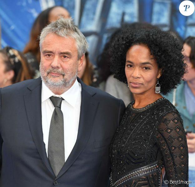 Luc Besson et sa femme Virginie Besson à la première de 'Valerian' au Cineworld à Leicester Square à Londres, le 24 juillet 2017