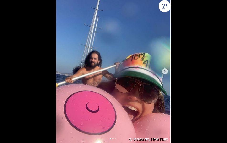 Heidi Klum and her husband Tom Kaulitz on vacation in Capri. August 2019.