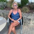Sophie Davant au naturel en Bretagne. Le 12 août 2019.