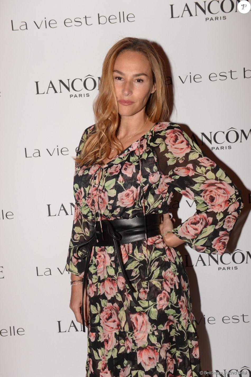 """Exclusif - Vanessa Demouy Soirée Lancôme pour célébrer la nouvelle communication du parfum Iconique """"La Vie est Belle"""" à l'hôtel Mona Bismarck à Paris le 12 septembre 2018."""