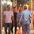"""Gigi Hadid et son supposé nouveau compagnon Tyler Cameron sont allés au bar """"Le Turtle"""" de Justin Theroux, à Manhattan. New York, le 13 août 2019."""