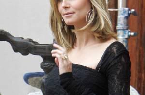 Heidi Klum, très enceinte, continue son émission et embête son partenaire... Quelle coquine !