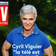 Couverture de TV Magazine avec Cyril Viguier. Août 2019.