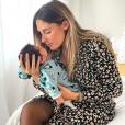"""Jesta de """"Koh-Lanta"""" complice avec son fils Juliann, le 29 juillet 2019"""