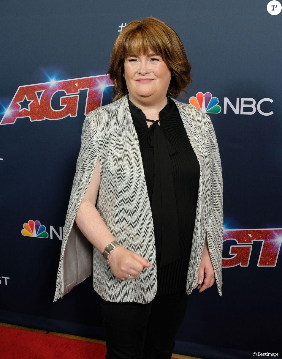 """Susan Boyle à l'émission """"America's Got Talent"""" à Los Angeles, le 20 août 2019."""