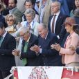 Le roi Juan Carlos Ier d'Espagne assiste à la corrida aux arènes de Las Ventas, dans le cadre de la feria de San Isidro à Madrid, le 5 juin 2019.