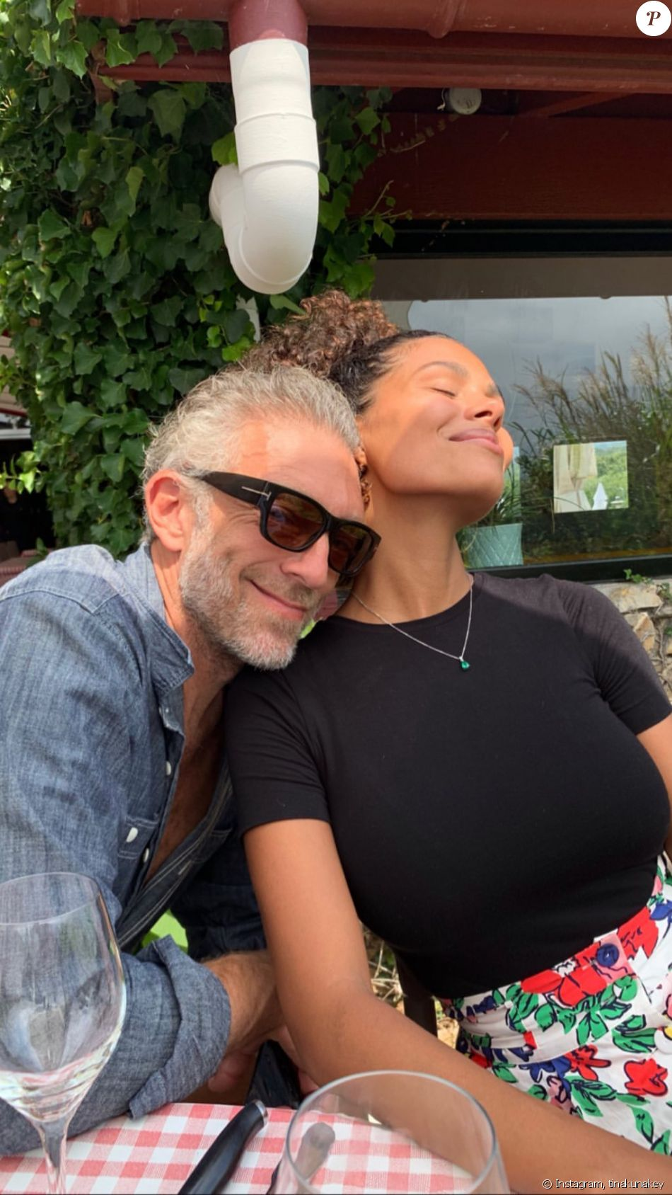 Tina Kunakey et Vincent Cassel sur Instagram.